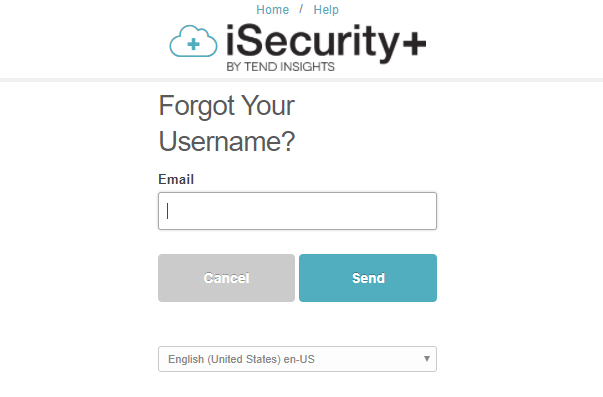 Forgotten username or password – Tend Insights